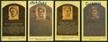 Baseball Collectibles:Others, Baseball Hall of Famers Signed Plaque Postcards Lot of 4....