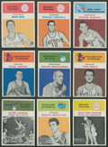 Basketball Cards:Lots, 1961 Fleer Basketball Collection (9)....
