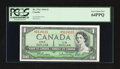 "Canadian Currency: , BC-37b-i $1 1954 with ""Radar"" Serial Number. ..."