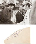 Autographs:Celebrities, Yuri Gagarin Autograph and Photograph with Che Guevara... (Total: 2 Items)