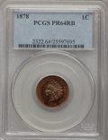 Proof Indian Cents: , 1878 1C PR64 Red and Brown PCGS. PCGS Population (154/50). NGC Census: (166/126). Mintage: 2,350. Numismedia Wsl. Price for...