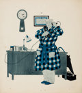 """Mainstream Illustration, HARRY BECKHOFF (American, 1901-1979). """"Payment or No Payment,the Doctor Must Answer the Calls of Patients Whenever a Heal...(Total: 2 Items)"""
