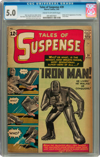Tales of Suspense #39 (Marvel, 1963) CGC VG/FN 5.0 Cream to off-white pages