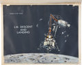 "Transportation:Space Exploration, NASA ""LM Descent and Landing"" Original Artwork, Created for Rusty Schweickart. ..."