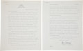 Autographs:Celebrities, Charles Lindbergh 1938 Typed Letter to Robert Goddard....