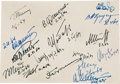 Autographs:Celebrities, Zond 1 Autographed Card Signed by Sergei Korolev...