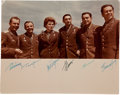 Autographs:Celebrities, Color Photograph Signed by All Six Vostok Cosmonauts:...