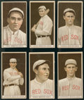 Baseball Cards:Lots, 1912 T207 Recruit Brown Background Boston Red Sox (6 Different)....