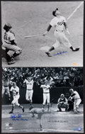Baseball Collectibles:Photos, Carlton Fisk and Duke Snider Signed Oversized Photographs Lot of 2....