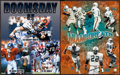 Football Collectibles:Photos, Football Notables Signed Oversized Photographs Lot of 3....