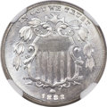 Shield Nickels, 1883/2 5C MS67 NGC. CAC. FS-304. ...