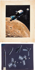 Transportation:Space Exploration, NASA Original Space Art: R. Bruneau and Chuck Biggs.... (Total: 2Items)