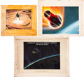 Transportation:Space Exploration, NASA Original Space Art: Three Paintings.... (Total: 3 Items)