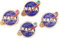 Transportation:Space Exploration, NASA 10K Gold Service Award Pins (Four) with a Large Collection of Quality NASA Memorabilia. ... (Total: 61 Items Items)