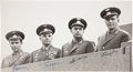 Autographs:Celebrities, Photograph Signed by Gagarin, Titov, Popovich, and Nikolayev...