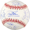 Baseball Collectibles:Balls, 2005 Houston Astros Team Signed Baseball (23 Signatures)....
