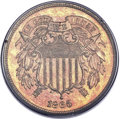 Proof Two Cent Pieces, 1865 2C PR66 Red PCGS....