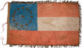 Military & Patriotic:Civil War, Early Post Civil War Confederate 1st National Pattern Flag with Fonda Thomsen Analysis Report....
