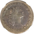 Early Dollars, 1795 $1 Flowing Hair, Three Leaves -- Repaired -- NGC Details. XF.B-5, BB-27, R.1....