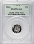 Proof Roosevelt Dimes: , 1963 10C PR67 Deep Cameo PCGS. PCGS Population (228/553). NGCCensus: (150/523). Numismedia Wsl. Price: $25. (#95238)...