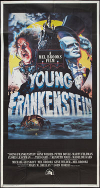 "Young Frankenstein (20th Century Fox, 1974). Three Sheet (41"" X 81""). Comedy"
