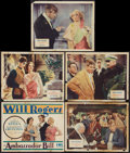 """Movie Posters:Comedy, Ambassador Bill (Fox, 1931). Title Lobby Card and Lobby Cards (4) (11"""" X 14""""). Comedy.. ... (Total: 5 Items)"""