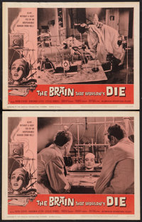 """The Brain That Wouldn't Die (American International, 1962). Lobby Cards (2) (11"""" X 14""""). Horror. ... (Total: 2..."""