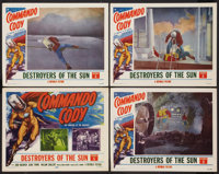 """Commando Cody (Republic, 1953). Lobby Card Set of 4 (11"""" X 14"""") Chapter Six -- """"Destroyers of the Sun.&qu..."""