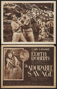 """The Adorable Savage (Universal, 1920). Title Lobby Card and Scene Card (11"""" X 14""""). Drama. ... (Total: 2 Items..."""