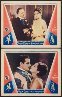 """Adoration (First National, 1928). Lobby Cards (2) (11"""" X 14""""). Romance. ... (Total: 2 Items)"""
