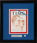 Transportation:Space Exploration, Gemini 4: Flown Mustard Seed Matted and Framed with a 1965TIME Cover, Both Directly from the Personal Collection ...