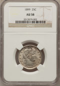 Barber Quarters: , 1899 25C AU58 NGC. NGC Census: (21/204). PCGS Population (38/237).Mintage: 12,624,846. Numismedia Wsl. Price for problem f...