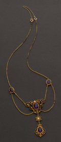 Estate Jewelry:Necklaces, Victorian Amethyst Necklace. ...