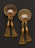 Estate Jewelry:Earrings, Gold & Diamond Vintage Earrings. ...