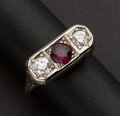 Estate Jewelry:Rings, Very Fine Ruby, Diamond & White Gold Ring. ...