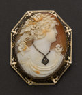 Estate Jewelry:Cameos, Large Shell Cameo. ...