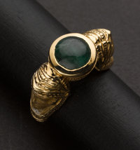 Emerald & Gold Egyptian Revival Ring