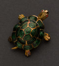Estate Jewelry:Brooches - Pins, Gold & Enamel Turtle Pin. ...