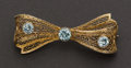 Estate Jewelry:Brooches - Pins, Filigree Gold Bow Pin. ...