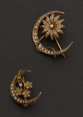 Estate Jewelry:Brooches - Pins, Two Antique Pins. ... (Total: 2 Items)