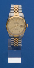 Timepieces:Wristwatch, Rolex Reference 16103 Gents Two-Tone Oyster Perpetual Datejust. ...