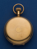 Timepieces:Pocket (post 1900), Hampden 18 Size Heavy 14k Gold Hunter's Case 15 Jewel RailwayMovement Pocket Watch. ...