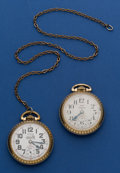 Timepieces:Pocket (post 1900), Two - Swiss Waltham's 25 Jewel Pocket Watches Runners. ... (Total: 2 Items)