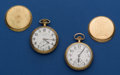 Timepieces:Pocket (post 1900), Two - Illinois's 16 Sizes 17 Jewel Pocket Watches Runners. ...(Total: 2 Items)
