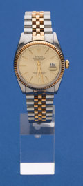 Timepieces:Wristwatch, Rolex Ref. 16013 Gent's Two Tone Oyster Perpetual Datejust, circa 1979. ...