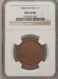 Large Cents, 1804 1C Restrike MS64 Red and Brown NGC....