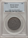 Large Cents, 1812 1C Small Date XF45 PCGS. S-291, B-1, R.2....