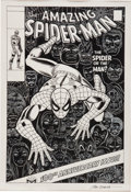 Original Comic Art:Covers, John Romita Sr. The Amazing Spider-Man #100 Cover Re-Creation Original Art (1994)....