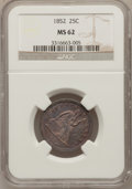 Seated Quarters, 1852 25C MS62 NGC....