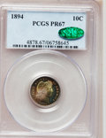 Proof Barber Dimes, 1894 10C PR67 PCGS. CAC....